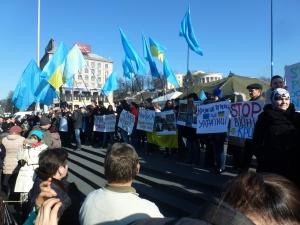 Maidan - Pro Crimea Rally 20140308  2